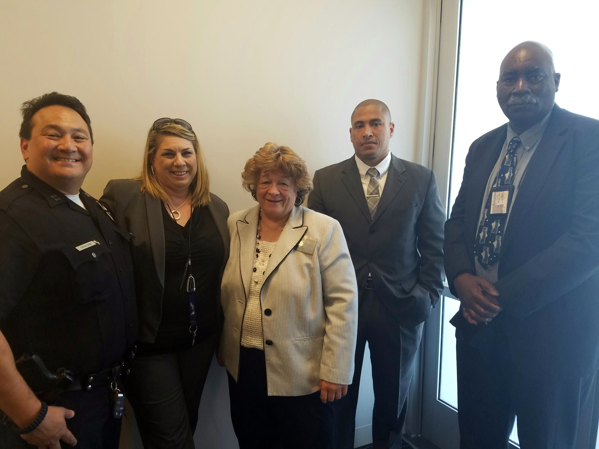 Representatives from the Los Angeles Police Department and the County of Los Angeles Probation Department